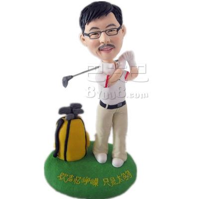 高尔夫造型卡通雕像
